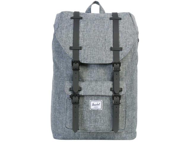 Herschel Little America Mid-Volume Backpack 17L raven crosshatch
